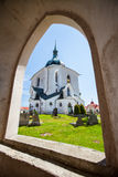 The Pilgrim Church in Zelena Hora, Czech Republic. UNESCO Royalty Free Stock Photo