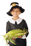 Pilgrim Corn-Holder Royalty Free Stock Photography