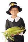 Pilgrim Corn-Holder Royalty Free Stock Photography