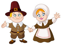 Pilgrim couple Stock Photo