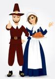 Pilgrim couple Stock Image