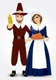 Pilgrim couple Royalty Free Stock Photo