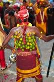 Pilgrim with dangling lemon Stock Images
