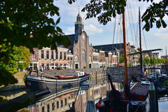 Pilgrim Fathers Church along River Nieuwe Maas at Delfshaven Royalty Free Stock Photography