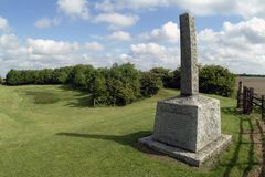 Pilgrim Fathers memorial. Memorial to Separatist puritans at Fishtoft, Lincolnshire, England, close to the spot where they were arrested in 1607 stock image