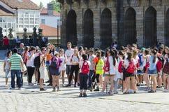 Pilgrim in  Galicia (Spain) Stock Image