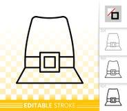 Pilgrim garden hat simple black line vector icon vector illustration