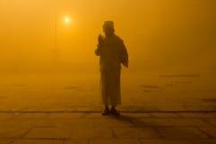 Pilgrim on ghat Royalty Free Stock Photos