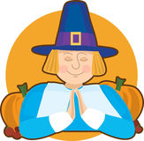 Pilgrim Graphic Royalty Free Stock Images