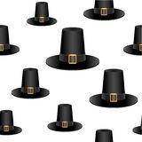 Pilgrim hat background Stock Photos