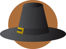 Pilgrim hat with buckle illustration Royalty Free Stock Photos