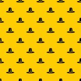 Pilgrim hat pattern vector. Pilgrim hat pattern seamless vector repeat geometric yellow for any design stock illustration