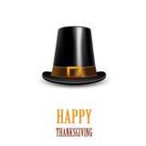 Pilgrim hat. Thanksgiving symbol Stock Image