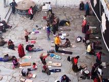 Pilgrim in lhasa Royalty Free Stock Image