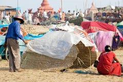 Pilgrim for the Megha Mela of Konark Stock Photo