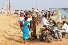 Pilgrim for the Megha Mela of Konark Royalty Free Stock Photo