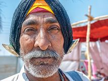 Pilgrim portrait at Kumbh Mela Stock Image