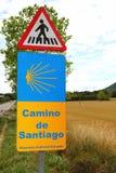 Pilgrim road sign pedestrian way of saint James Royalty Free Stock Photos