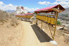 Pilgrim route in Tibet. Where devotees come to pay respects to their buddhas and gather karma in their life Royalty Free Stock Images