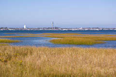 Pilgrim's Monument and Marshes Royalty Free Stock Images