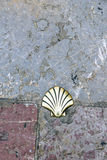 Pilgrim's shell. In the way of Santiago de Compostela Royalty Free Stock Photography