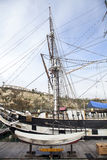 Pilgrim sailboat docked in Dana Point Harbor Royalty Free Stock Image