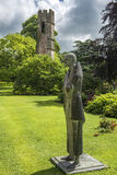 Pilgrim statue, Bishops Palace Wells, City Somerset, England Stock Images