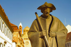 Pilgrim statue at Speyer Cathedral. Germany Royalty Free Stock Image
