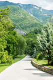 Pilgrim trail to the holy sites of the monastery Bachkovski Royalty Free Stock Image