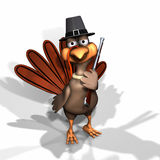 Pilgrim Turkey. Turkey Dressed as a Pilgrim with Pilgrim Hat and Musket Royalty Free Stock Photography