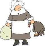 Pilgrim Woman Royalty Free Stock Photo