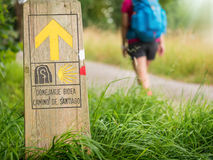 Pilgrimage at Camino de Santiago. A pilgrimage at Camino de Santiago Stock Photos