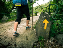 Pilgrimage at Camino de Santiago. A pilgrimage at Camino de Santiago Stock Photography