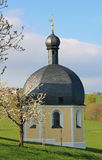 Pilgrimage chapel wilparting in spring, germany Royalty Free Stock Images