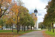 Pilgrimage church in autumn Stock Photos