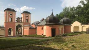 Pilgrimage Church of the Elevation. Of the Holy Cross, Jaromerice u Jevicka stock video