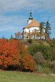 The pilgrimage church on the hill of Uhlirsky vrch near Bruntal. Czech Republic royalty free stock image