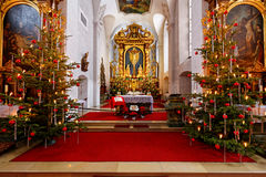 Pilgrimage church Kloster Kreuzberg festive decoration Royalty Free Stock Images