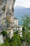 Pilgrimage church Madonna della Corona stock photo