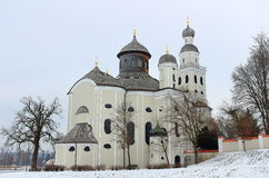 Pilgrimage church Maria Birnbaum in winter Royalty Free Stock Images