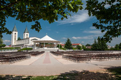 Pilgrimage church in Medjugorje Royalty Free Stock Photo