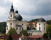 Pilgrimage Church and monastery in Krtiny Stock Images