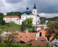 Pilgrimage Church and monastery in Krtiny Stock Photography