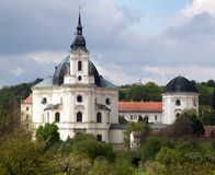 Pilgrimage Church and monastery in Krtiny village Stock Images