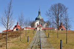 Pilgrimage church of St. John Nepomuk,Czech republ Royalty Free Stock Image