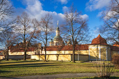 The Pilgrimage church of Virgin Mary of Victories. View of the church of Virgin Mary of Victories in the spring evening. Prague, Czech Republic Stock Photography