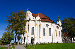 Pilgrimage Church of Wies. Is one of the word heritage sites in Germany. It is located in the municipality of Steingaden in southwest Bavaria Stock Image