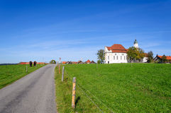 Pilgrimage Church of Wies. Is one of the word heritage sites in Germany. It is located in the municipality of Steingaden in southwest Bavaria Royalty Free Stock Images