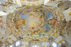Pilgrimage Church of Wies. Is one of the word heritage sites in Germany. It is located in the municipality of Steingaden in southwest Bavaria Stock Photography