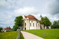 Pilgrimage Church of Wies, Bavaria, Germany. Royalty Free Stock Photo